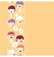 People talking on the mobile phone vertical vector image vector image