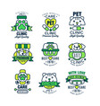 pet clinic logo set high quality best care 1978 vector image vector image