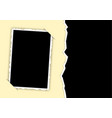photo frame with torn edges and hidden angles vector image vector image