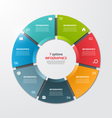 Pie chart infographic template 7 options