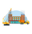 process of building school premises vector image vector image