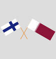 qatar and finland the qatari and finnish flags vector image