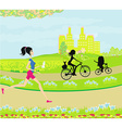 relax in the park vector image vector image