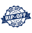 rip-off stamp sign seal vector image vector image