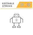 robot line icon vector image vector image