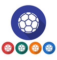 round icon soccer ball european football flat vector image