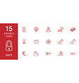 safe icons vector image vector image