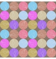 Seamless circle pattern Hand-drawn background vector image