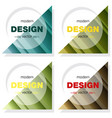 set minimalistic design creative concept modern vector image vector image