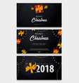 set of marry christmas and happy new year banner vector image vector image