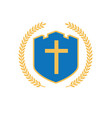 shield with cross vector image