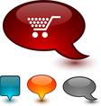 Shopping speech comic icons vector image vector image