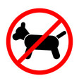 sign prohibiting dog vector image vector image