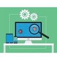 software testing vector image vector image