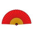 spanish fan icon cartoon vector image