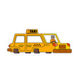 taxi isolated style outline yellow car vector image vector image