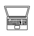 technology laptop cartoon vector image vector image