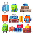 travel bag luggage suitcase for journey vector image