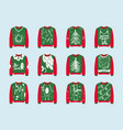 ugly sweaters design for christmas party creative vector image