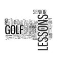 what senior golf pros still give lessons text vector image vector image