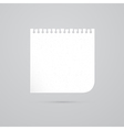 White Empty Paper Sheet vector image