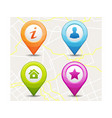 map pin icon vector image