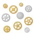 gear collection clock machine wheels gradient vector image