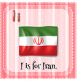 A letter I for Iran vector image