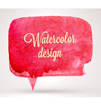 Abstract Watercolor Speech Bubble Design vector image vector image