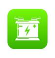 accumulator icon green vector image vector image