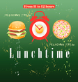 Advertise lunch vector image vector image