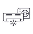 air conditionersplit system line icon vector image vector image