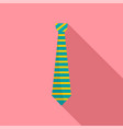 apparel tie icon flat style vector image