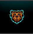bear head mascot logo icon vector image vector image