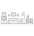 bedroom concept background outline style vector image