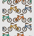 bicycle pattern outline style bmx linear style vector image vector image