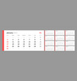 calendar for 2021 new year in clean minimal table vector image