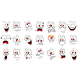 Cartoon face emotions set for you design vector image