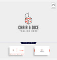 chair game logo design icon icon isolated vector image