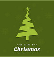 christmas tree with green background and pattern vector image