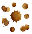 Coffee Stains Big Set vector image vector image