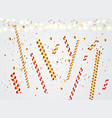 colorful naturalistic confetti with sparkles and vector image