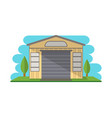 commercial storage building isolated icon vector image vector image