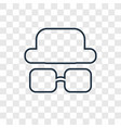 costume concept linear icon isolated on vector image