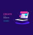 create your own website flat neon vector image