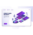 credit card security isometric concept safety vector image vector image