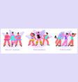 dance school compositions set vector image vector image