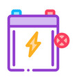 dead battery icon outline vector image