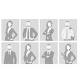 default placeholder man and woman half-length por vector image vector image