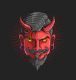 devildevil head graphic vector image vector image